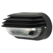 Wandverlichting ovaal zwart 230 V