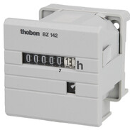 Theben Operating hour counter BZ 142-3 plug-in base for 35 mm profile rail