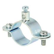 "Earth clips for pipes 1"" zinc-coated, chrome"