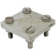 Cross connector for hoop iron 30 mm galvanised steel