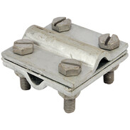 Cross connector for round steel  Ø8-10mm galvanised steel