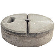 Concrete base C45/55 with handle hole, mounted base and wedge