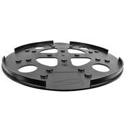 Support plate plastic Ø 280 mm black