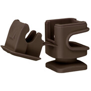 Conductor holder DEHNsnap plastic brown H: 16mm for pipe Ø 8mm with thread M6