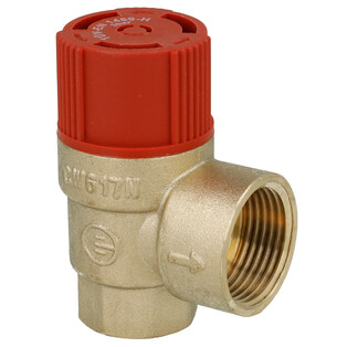 "Safety valve for heating 1/2"" 3 bar"