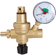 Filling fitting FAM with pressure gauge