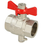 "Ball valve 3/4"" IT  with an injection point M10 x 1"