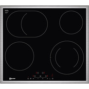 Neff Built-in electric hob 60 cm with 4 HighSpeed radiators and Touchcontrol T16BD76N0