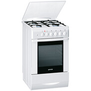 Gorenje K 734 W, cooker with gas hob, electric oven, 50 cm wide, white