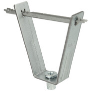 Trapezoidal roofing sheet hanger with serrated pin M8