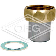 """Connection fitting with welded sleeve DN15 x 3/4"""" union nut"""