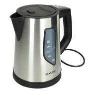 Severin jug kettle 1.5 l 2,200 W,cordless,brushed stainless steel WK3342