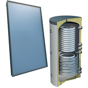 Solar package 4plus® on-roof 4collectors 500 l fresh water 2 tube coils 516000555