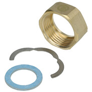 """Screw connection kit 1"""" IT for corrugated stainless steel pipes 3-piece"""