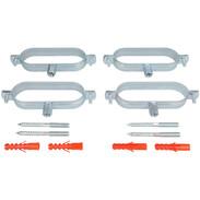 Solar oval clamp set DN20