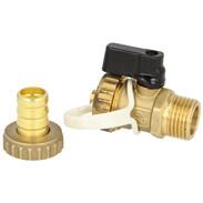 """Solar ball valve KFE ½"""" brass not self-sealing"""