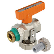 "KFE ball valve 1/2"" solar with hose screw connection"
