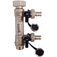 "Combined solar valve with flow meter 3/4"" ET x 1"""