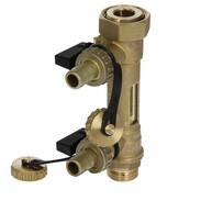 """Combined solar valve with flow meter 3/4"""" ET x 1"""""""