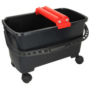 Bucket 24 l with two washing rolls and 4 wheels