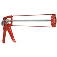 Skeleton caulking gun with return stop heavy design