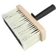 Ceiling brush 170 x 70 mm plastic bristles dark wooden body