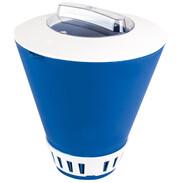 Dosatore galleggiante con anello variabile per pastiglie di cloro