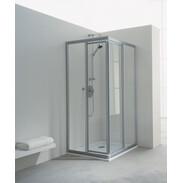 Corner shower swing door