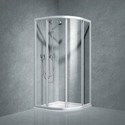 Koralle Shower partition quadrant w.sliding door Coral TwiggyTop100, R-550, acrylic glass V447710018A21