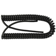 Spiral cable black