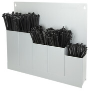 Assortment cable ties with wall holder 500 pieces 5 different types black