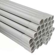 Rigid plastic conduits Ø 20 mm grey 2 m