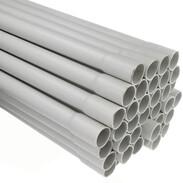 Rigid plastic conduit ø 25 mm grey 2 m