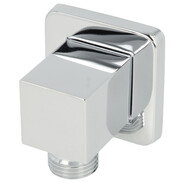 Wall connection elbow Quattro chrome-plated brass