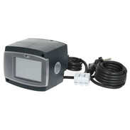 Weather-compensated heating controller with integrated actuator