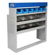 Vehicle equipment module MIDI storage box for medium-sized transporters