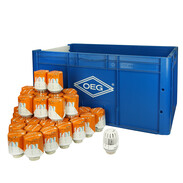 Special offer pack OEG storage box + 39 pieces Heimeier thermostatic heads K
