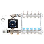 Setpoint control unit with heating circulation pump