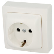 Earthed socket outlet Oteo with shutter