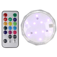 LED luminaire battery-operated dimmable with remote control