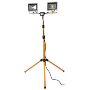 LED double floodlight for construction sites with tripod