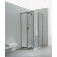 Corner-shower sliding door Koralle TwiggyTop, acrylic glass, EDPTT 2, 90/75