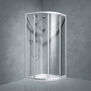 Shower partition quadrant w.sliding door Coral TwiggyTop80, R-550, acrylic glass