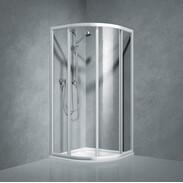 Quarter-circle sliding door 900 x 900 / R550, single-pane safety glass