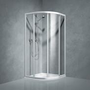 Shower partition quadrant w.sliding door Coral TwiggyTop100, R-550, acrylic glass