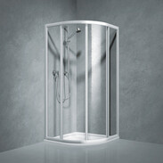 Shower partition quadrant w.sliding door Coral TwiggyTop80, R-550, safety glass