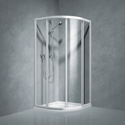 Shower partition quadrant w.sliding door Coral TwiggyTop100, R-550, safety glass