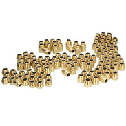 Promo package tap extensions 125 pieces brass bright